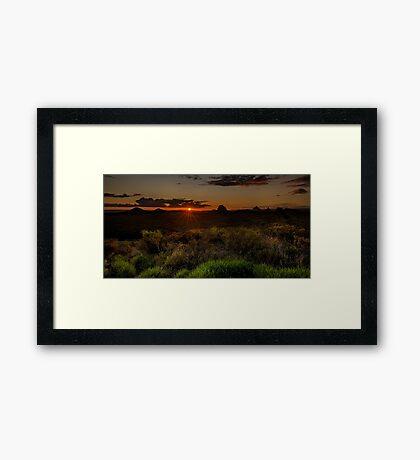 Glass House Mts Sunset Framed Print