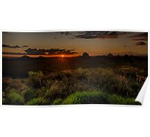 Glass House Mts Sunset Poster