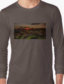 Glass House Mts Sunset Long Sleeve T-Shirt