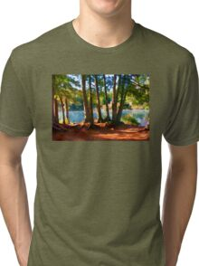 Path to the Lake Through the Woods Tri-blend T-Shirt