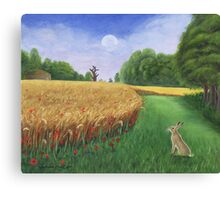Hare's Path to the Moon Canvas Print