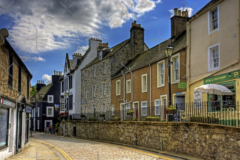 Along the Cobbled High Street by Tom Gomez