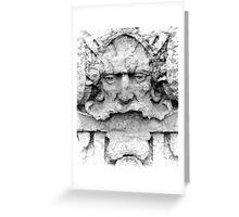 Facade Sculpture Greeting Card
