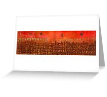 That Long Brown Fence Dividing YOU and Me Greeting Card