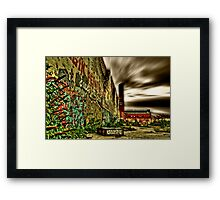 HDR Graffiti Framed Print