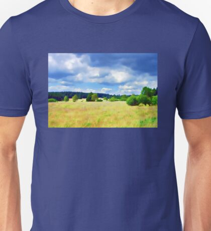 Open Field Clouded Sky Unisex T-Shirt