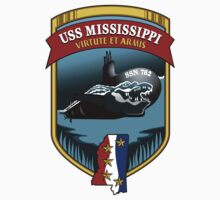 SSN-782 USS Mississippi Crest One Piece - Short Sleeve