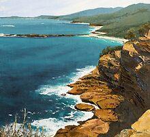 "Original oil painting: ""Ocean Vista"" - Kioloa, NSW, Australia by Martin Lomé"