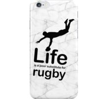Rugby v Life - Black Graphic iPhone Case/Skin