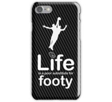 AFL v Life - White Graphic iPhone Case/Skin