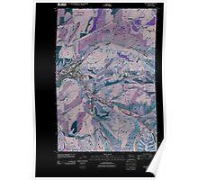 USGS Topo Map Washington State WA Dayton 20110406 TM Inverted Poster