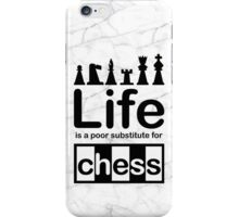 Chess v Life - Black Graphic iPhone Case/Skin