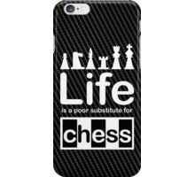 Chess v Life - White Graphic iPhone Case/Skin