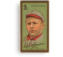 Benjamin K Edwards Collection Robert Harmon St Louis Cardinals baseball card portrait Canvas Print