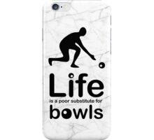 Bowls v Life - Black Graphic iPhone Case/Skin