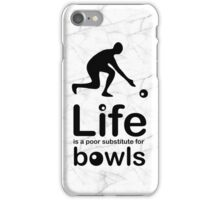 Bowls v Life - Black Graphic iPhone Case/Skin