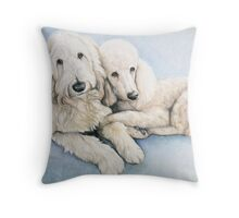 Labradoodle and Standard Poodle Throw Pillow