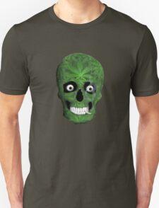 Pot Leaf Skull and Doob Unisex T-Shirt