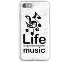 Music v Life - Black Graphic iPhone Case/Skin