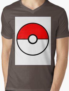 Simplistic Pokeball Mens V-Neck T-Shirt