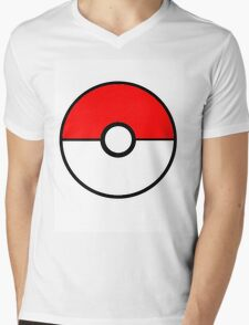 Simplistic Pokeball Mens V-Neck T-Shirt