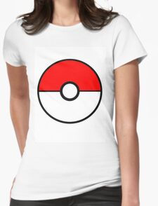 Simplistic Pokeball Womens Fitted T-Shirt