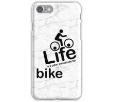 Bike v Life - Black Graphic iPhone Case/Skin