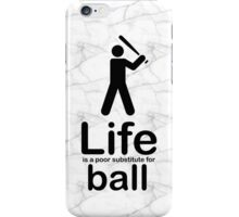 Ball v Life - Black Graphic iPhone Case/Skin