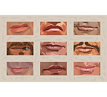 Mystery Mouths of the Action Genre Photographic Print