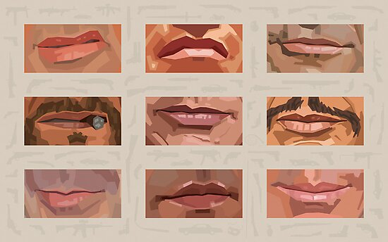 Mystery Mouths of the Action Genre by mitchfrey