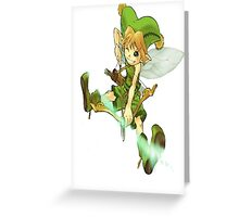 green women arcer Greeting Card