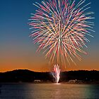 Fireworks over Lake Albert by Andrew Harris