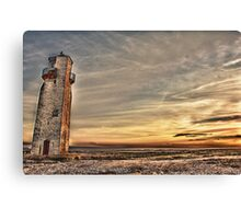 Lighthouse At Southerness Canvas Print