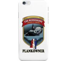 SSN-782 USS Mississippi Plank Owner Crest iPhone Case/Skin
