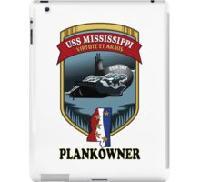 SSN-782 USS Mississippi Plank Owner Crest iPad Case/Skin