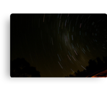 Spinning Star Trails.. Canvas Print