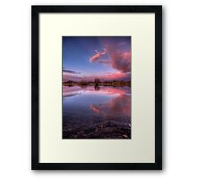 Pinching Sunset Framed Print