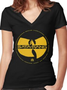 Batman Hiphop Style Women's Fitted V-Neck T-Shirt