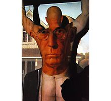 Muscling American Gothic Photographic Print