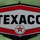 Vintage Texaco Sign by Betty Northcutt