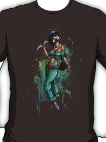 Zombie Princesses - Jasmine (with background) T-Shirt
