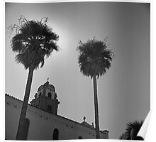 Palms and Monastery Poster