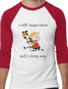 Calvin and Hobbes Little Imagine Men's Baseball ¾ T-Shirt