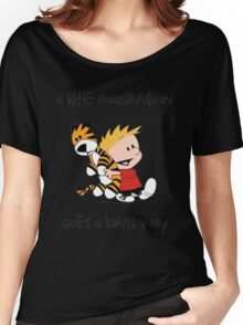 Calvin and Hobbes Little Imagine Women's Relaxed Fit T-Shirt