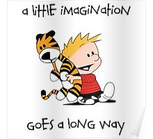 Calvin and Hobbes Little Imagine Poster