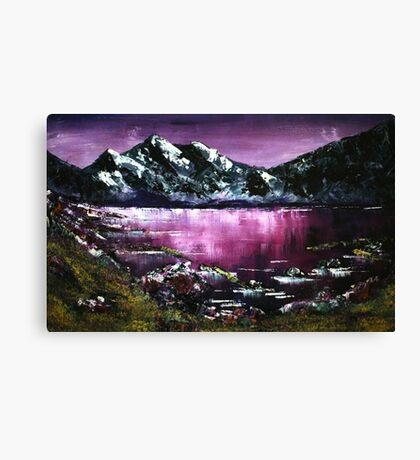 'Sawtooth Sunrise' Oil Painting Canvas Print