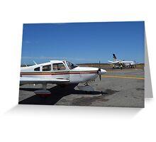 Piper Archer, REX SAAB 340 & RFDS PC-12 Greeting Card
