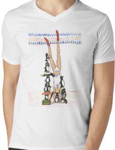 Handstand Mens V-Neck T-Shirt