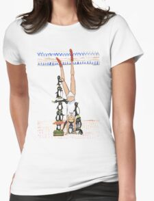 Handstand Womens Fitted T-Shirt