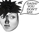 Dada? You Don't Say(Dada Woman W/Guilltone Hair-Surrealist Collage) Postcards by Joseph Welte